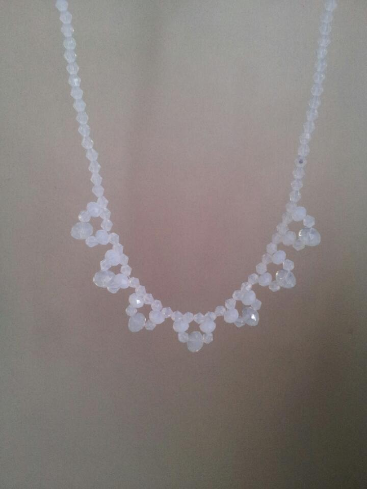White crystal necklace 1