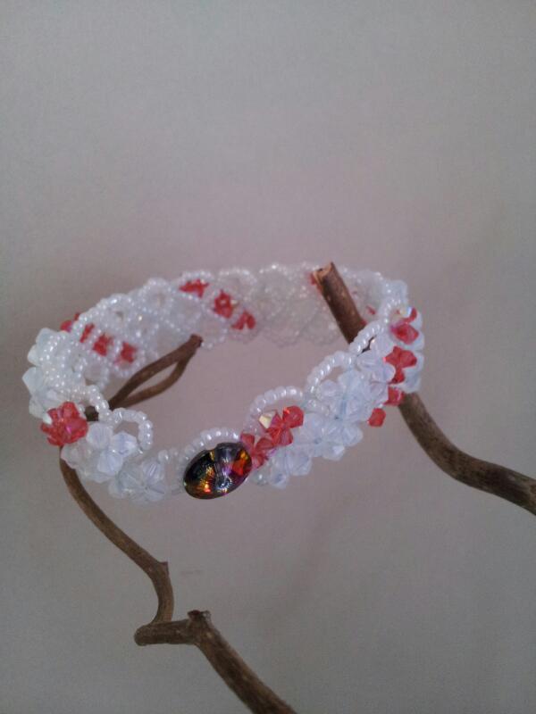 Crystal bracelet padparadscha