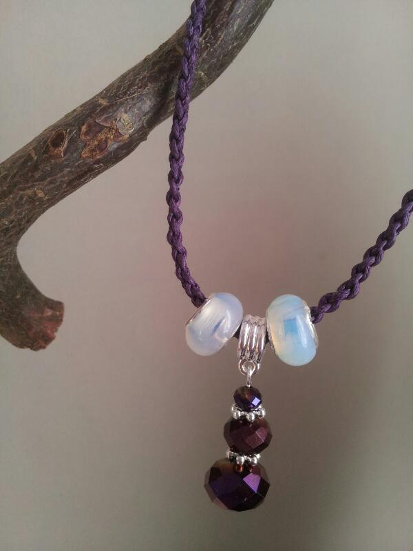 white charm bead necklace
