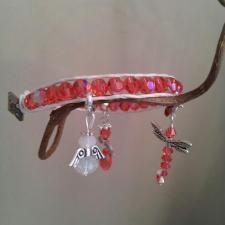 padparadscha wrap leather charm bracelet