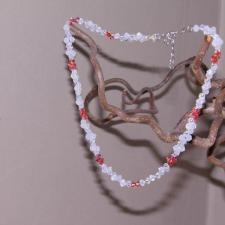 Padparadscha beads necklace